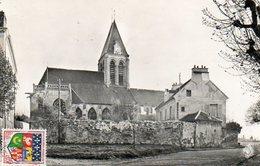 CPSM Dentelée - HERBLAY (95) - Aspect De L'Eglise Et Du Presbytère Dans Les Années 50 / 60 - Herblay