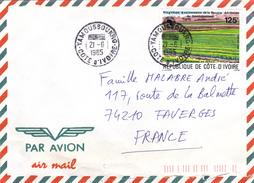 Jolie Lettre Par Avion De  COTE D IVOIRE  Vers FRANCE - Côte D'Ivoire (1960-...)