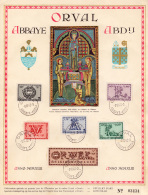 Belgium 0625/30 Orval Lettrines   First Day - 1er JOUR  Du 8/10/43 - FDC