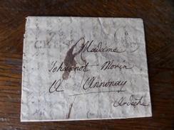 Lot Du 21.04.2017_ , LAC De Crest  Pour Lyon De 1829,,texte!! - Marcophilie (Lettres)