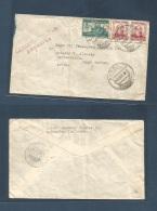 E-Guerra Civil. 1937 (16 Mayo) Baleares, Andraitx - Dutch West Indies, Areuba (31 Mayo) Multifkd Envelope Including Bene - Non Classificati