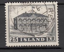 Iceland 1952,1V,Mi 277,25KR,house Of Parlement In Reykjavik,Cancelled/Gestempeld(A3235) - 1944-... Republiek