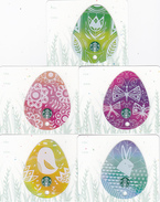5 Starbucks Cards - - - Germany - - - Easter Eggs 6135 - Gift Cards