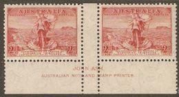 Australia 1936 SG 159 Tasmania Telephone Link Gutter Pair Mounted Mint - 1937-52 George VI