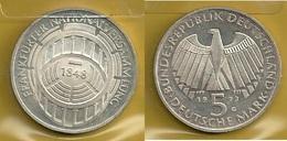 GERMANIA 1973 G  - F.N. - 5 Mark  SPL / FDC - Argento / Argent / Silver - Confezione In Bustina - (3 Foto) - [ 7] 1949-… : RFA - Rep. Fed. Tedesca