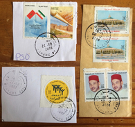 Morocco Maroc Marokko Stamps On Peace Of Paper Cut Out 2006 - 2008, Used - Morocco (1956-...)