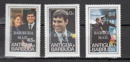 Barbuda Mail 1986,3V,set,Royal Wedding With Ovpt Barbuda Mail,MNH/Postfris(A3239) - Koniklijke Families