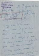 Carte Lettre  / S. SIMON / Journaux Bazar / Neauphle Le Vieux / 78 Yvelines - Maps