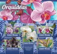 GUINE BISSAU 2017 SHEET ORCHIDEES ORCHIDEE ORQUIDEAS ORCHIDEEN ORCHIDS FLEURS FLOWERS FLORES Gb17102a - Guinée-Bissau