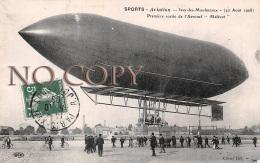 92 - Issy Les Moulineaux - Sports Aviation - Première Sortie De L'Aeronef Malécot - Dirigeable Zeppelin Ballon - Issy Les Moulineaux