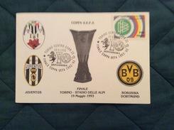 Cartolina Ufficiale Juventus - Borussia Dortmund Finale Coppa UEFA 1992-93 - Soccer