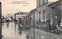 92 - Billancourt - Les Inondations De Paris 1910 - Rue De Bellevue - Boulogne Billancourt