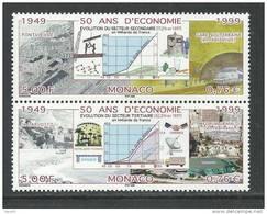 Monaco N° 2205 / 06 XX  50 Ans D´économie, La Paire Sans Charnière, TB
