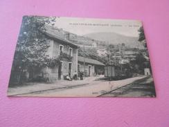 91 - CPA , St-Sauveur De Montagut , La Gare , Train En Station - Autres Communes