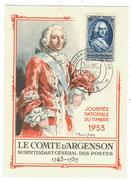 France // Carte Maximum // Journée Du Timbre 1953 Avec Le Cachet De Paris - Cartes-Maximum
