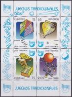 2009.263 CUBA 2009 MNH SPECIAL SHEET JUEGOS TRADICIONALES TRADITIONAL GAMES. - Cuba