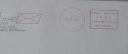 België 2014 P.B-P.P 1099 Brussel X (rode Afdruk Met Datum In Cirkel En Pictogram) - Máquinas Franqueo