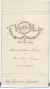Menu De Mariage/Vauquelin-Cocagne/Diner-Déjeuner/Henriette LOUVET/Imp Duval, Elbeuf/ 1923                        MENU187 - Menus