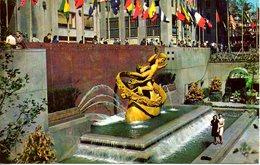 USA. Carte Postale écrite. Prometheus Statue. - New York City