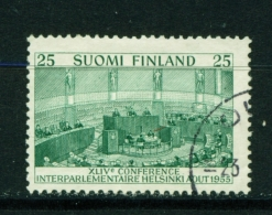 FINLAND  -  1955  Interparliamentary Conference  25m  Used As Scan - Used Stamps