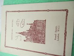 Menu / Imperial Hotel / Russell Square  LONDON/Luncheon-Dinner/ 7 October 1956                                   MENU182 - Menus
