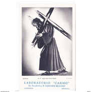 SVLLTPA2012CPA-LFTMD8545TBES.Tarjeta Postal DE SEVILLA.Publicitaria.LABORATORIOS CARMON Y JESUS DEL GRAN PODER,SEVILLA - Esculturas