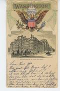 U.S.A - WASHINGTON - Departments Of War And Navy (embossed Postcard) - Washington DC