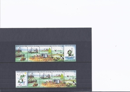 Feuille Carton Avec Dessin Et Légende : La Mer, Un Littoral Si Riche. + 10 Timbres Non Oblitérés : Gardez La Mer Propre - Bélgica