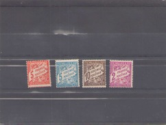 Andorre Timbre Taxe 1938/41 N° 17/20 *