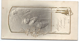 Menu De 1ére Communion/ 2 Exemplaires/ Abel DEMOULIN/ Déjeuner Et Diner/ Victor LOUVET/8 Juin 1924    MENU185 - Menus