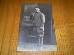 Carte Photo Militaire Prisonnier à Harbke En Allemagne, Camp De Zerbst, Gepruft Lager Zerbst N° 23,Ed Kuhne Helmstedt - Guerra 1914-18