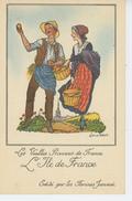PUBLICITE - Jolie Carte Pub Pour LES FARINES MALTÉES JAMMET - Les Vieilles Provinces De France - L'ILE DE FRANCE - Publicité