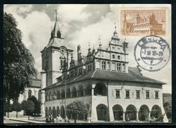 Tchécoslovaquie - Carte Maximum 1955, Levoca, L 'Hôtel De Ville - Tchécoslovaquie