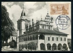 Tchécoslovaquie - Carte Maximum 1955, Levoca, L 'Hôtel De Ville - Czechoslovakia