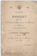 Menu De Banquet / Comité D'Organisation Du Festival De Musique/HARMONIE ELBEUVIENNE 1873-1823/ Juin 1923        MENU186 - Menus