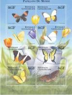 République Centre Africaine -  Bloc Papillon - ** / MNH - Butterflies