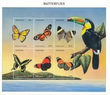 Tanzanie  - Bloc Papillon Oiseaux - ** / MNH - Butterflies