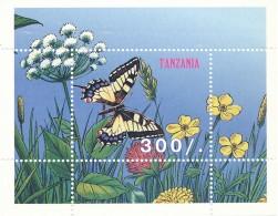 Tanzanie  - Bloc Papillon Fleurs - ** / MNH - Butterflies