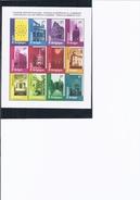 Feuillet Journées Européennes Du Patrimoine. 12 Timbres De 17 F. 1988 + Prospectus Europa 1985 2 Timbres - Velletjes