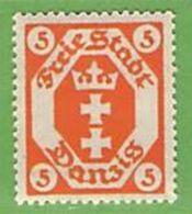 MiNr. 73 X (Falz)  Deutschland Freie Stadt Danzig - Danzig