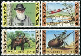 MAURITIUS 1982 Darwin Death Centenary, Elephants, Fauna MNH - Mauricio (1968-...)