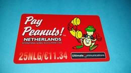 Prepaidcard Netherlands 25 NLG Used  Rare !