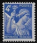 IRIS  N° 656a ** - Variété 4 Crochu - 1939-44 Iris