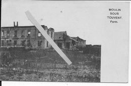 Septembre 1914 Moulin Sous Touvent Ferme De Puiseux Vue Générale 1 Carte Photo 1914-1918 14-18 Ww1 - Oorlog, Militair