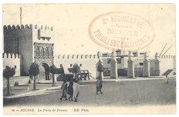 Cpa Tunisie, Sousse, La Porte De France ( Tampon 8e Régiment De Bizerte, Tirailleurs Indigènes ) - Tunisie