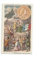 Chromo Louis XVI Histoire De France Pub: Chocolat Guerin-Boutron 105 X 65 Mm  Bien - Guérin-Boutron