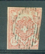 HELVETIA - Mi Nr 12a - Rayon III  - Gest./obl.- Cote 130,00 € - 1843-1852 Kantonalmarken Und Bundesmarken