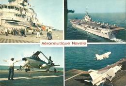 Bateau - Force Aéro-navale Française - Multivues (4) : Porte-avion Clémenceau, Foch, Crusaders Au Décollage, Alizés... - Warships