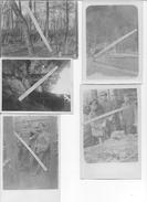1915 Secteur Soupir Chavonne Officiers Allemands Du  I.R 35 Dans Les Tranchées 3 Cartes Photos Et 2 Photos 14-18 Ww1 - War, Military