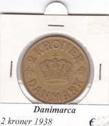 DANIMARCA   2  KRONER  1938  COME DA FOTO - Danimarca